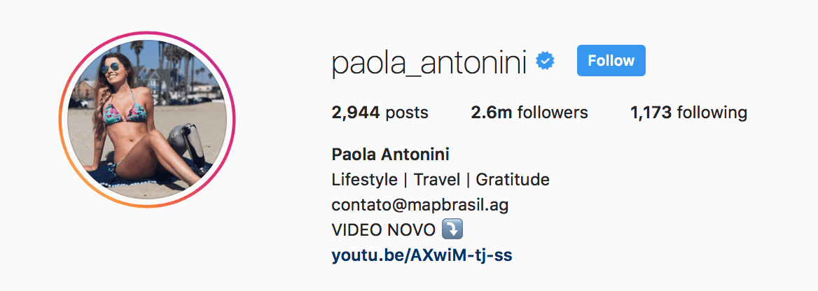 paola instagram bio
