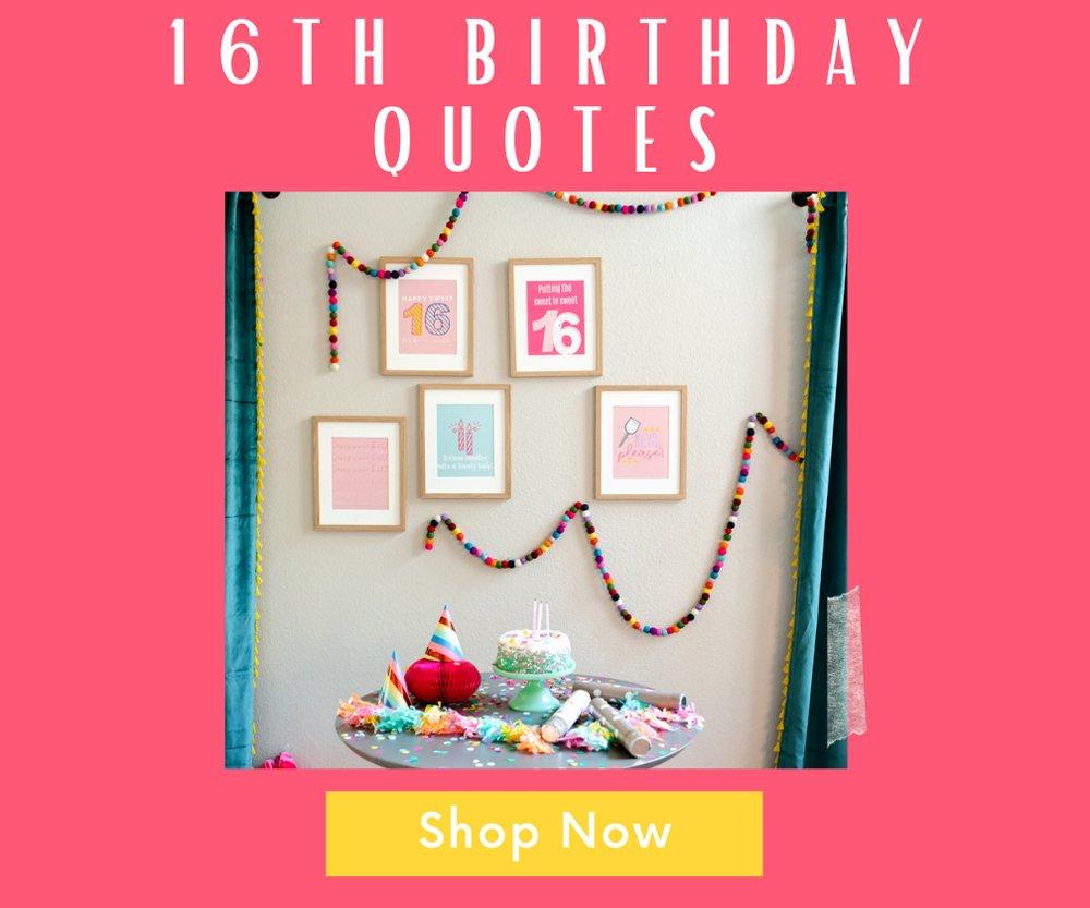 16th birthday poster prints