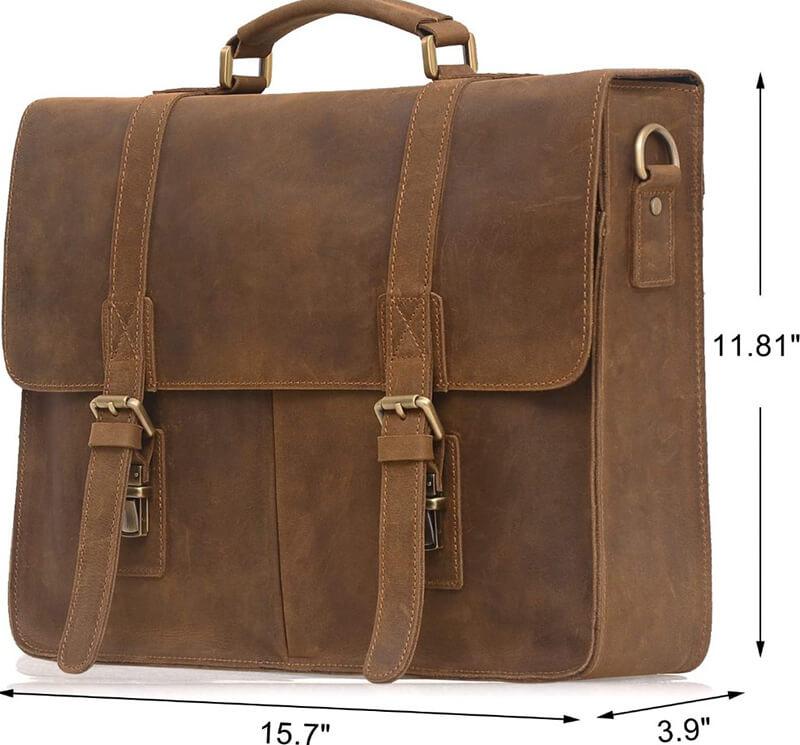 Jack & Chris Men's Genuine-Leather Briefcase