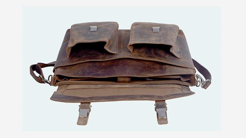 Komal 15-Inch Retro Buffalo Hunter Leather