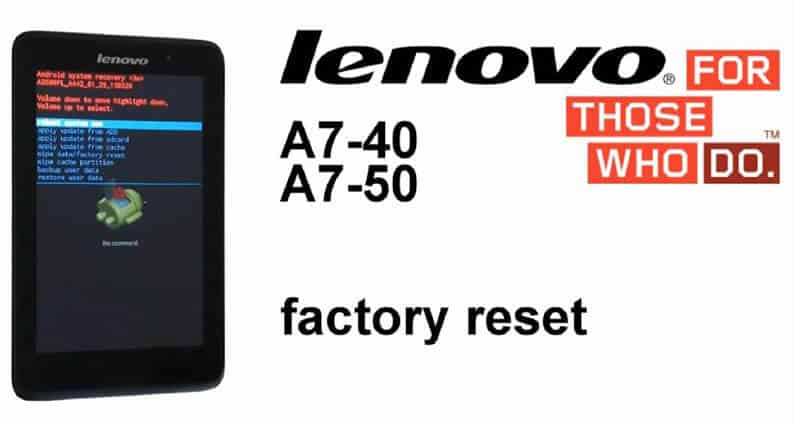 How To Factory Reset Lenovo Tablets (Powered Away)