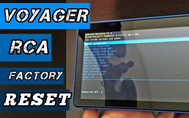 Performing a factory reset out of configurations