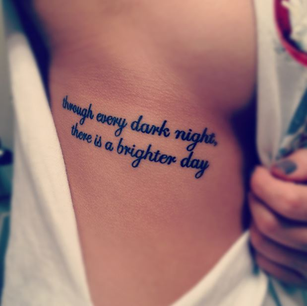 Cute And Lovely Quotes Tattoos Ideas For Girls