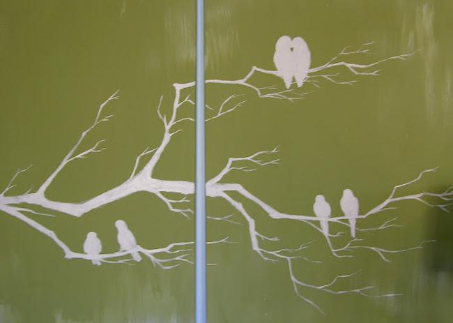 DIY Canvas Art Ideas - Branches Birds