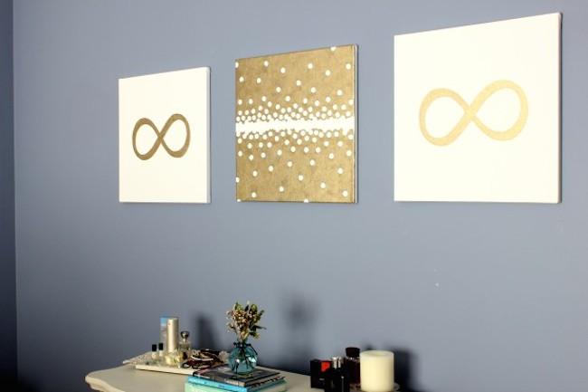 DIY Canvas Art Ideas - Circle Labels