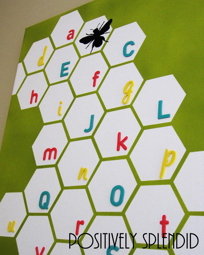 DIY Canvas Art Ideas - Honeycomb