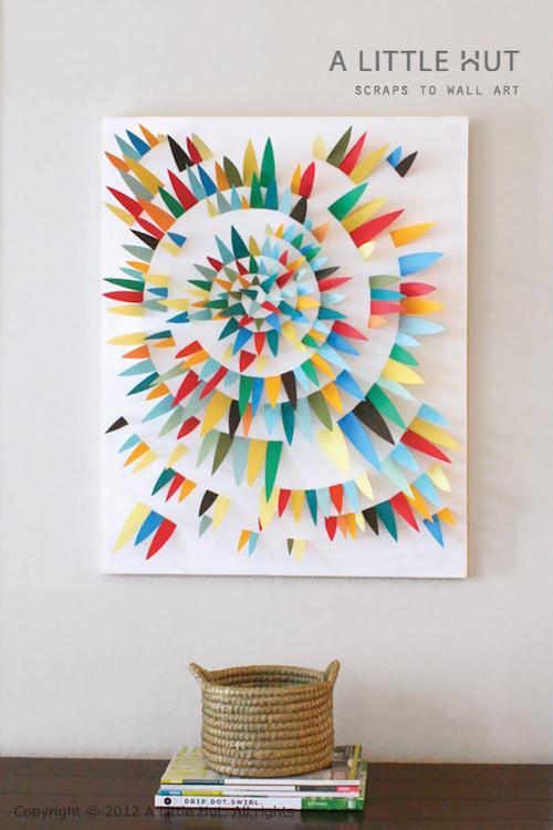 DIY Canvas Art Ideas - Paper Scraps