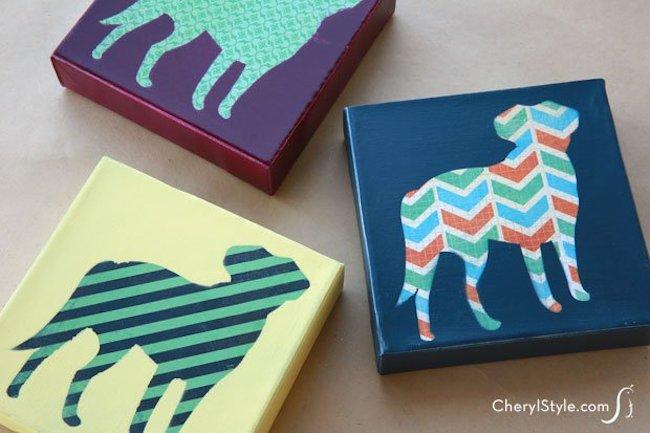 DIY Canvas Art Ideas - Pet Print