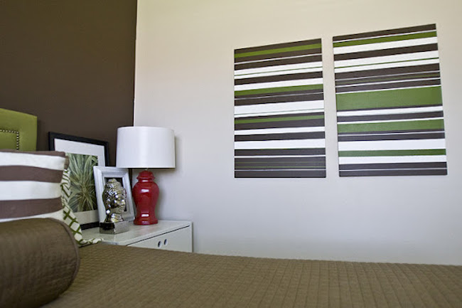 DIY Canvas Art Ideas - Stripes
