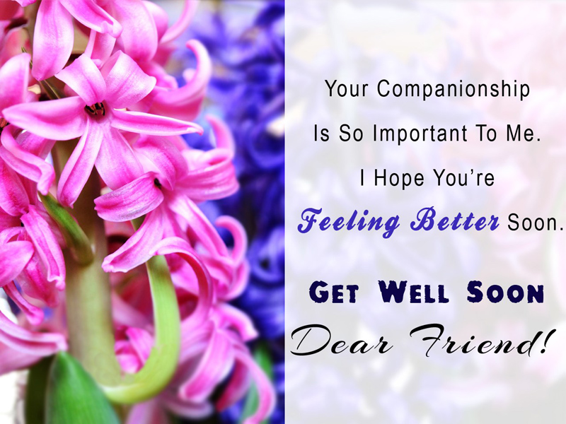 Emotional get well wishes for friend