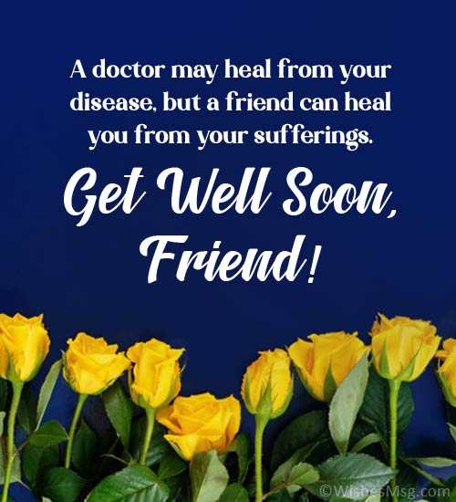 get well wishes for a friend