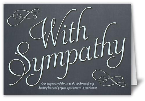 heartfelt sympathy card with custom message