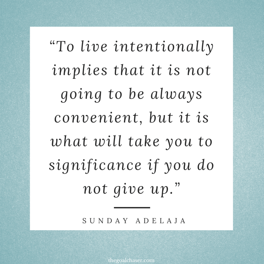 Intentional Living quotes -
