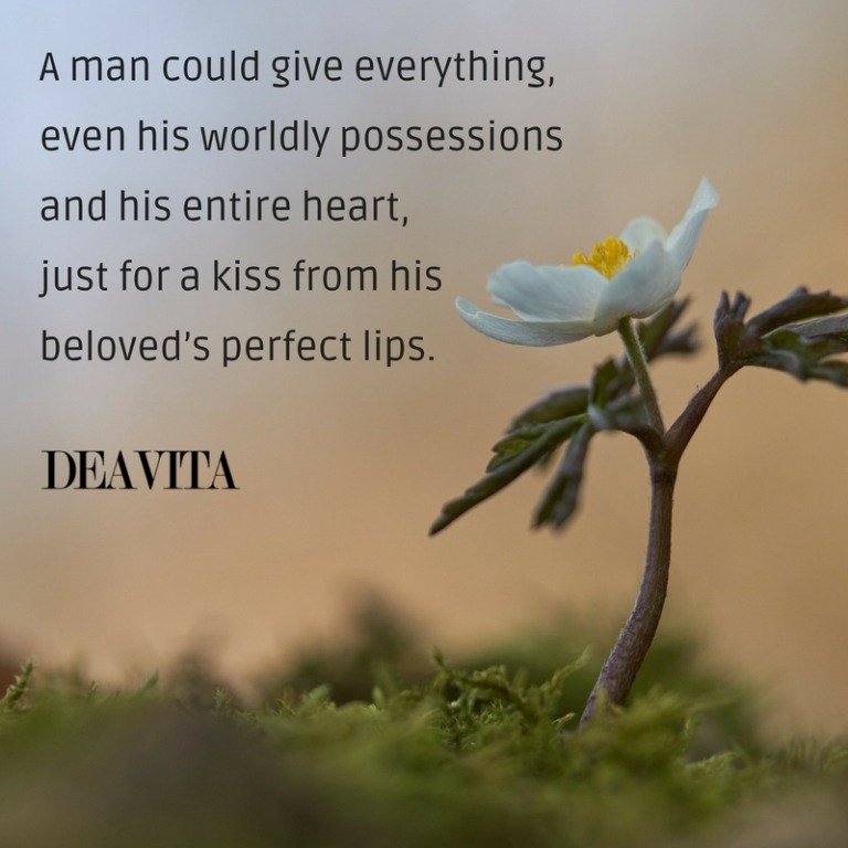 kiss and love romantic sayings and quotes from the heart