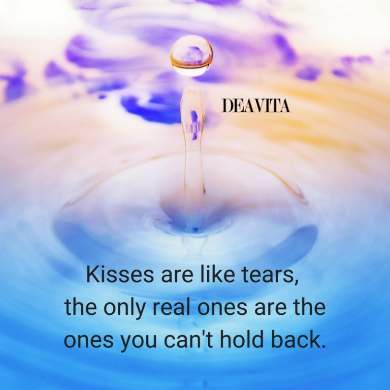 Kisses love feelings tears quotes romantic cards