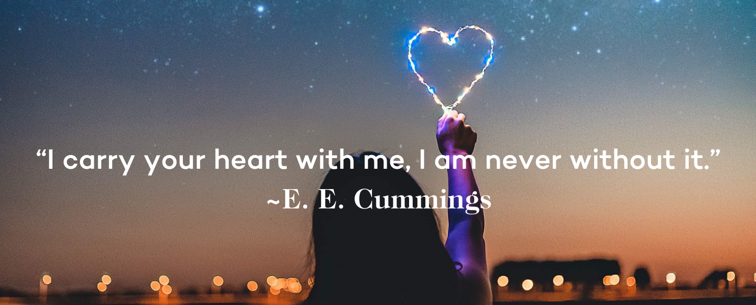 Miscarriage Quote - I carry your heart with me, I am never without it