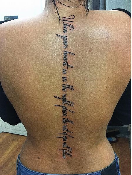 Quote For Tattoos On Rib
