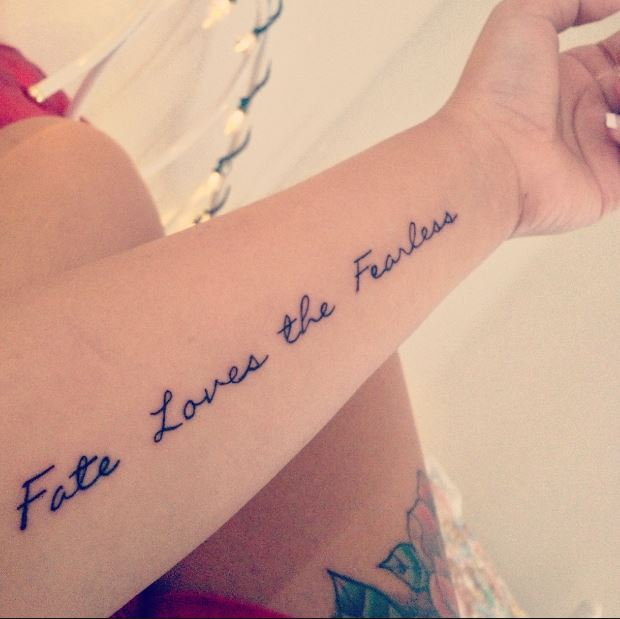 Quote Tattoos For Girls On Hands