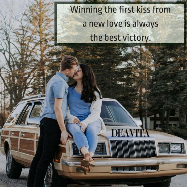 romantic first kiss quotes and inspirational love sayings for girlfriend or boyfriend