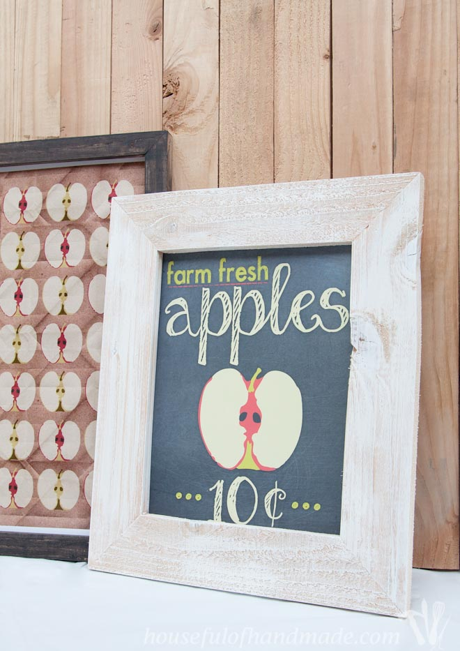 diy rustic fall picture frames with apples