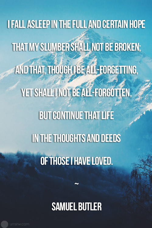 Samuel Butler Funeral Quote