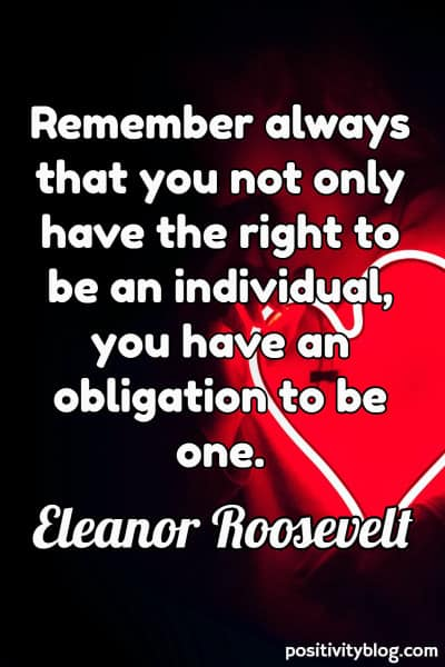 Self Care Quote by Eleanor Roosevelt