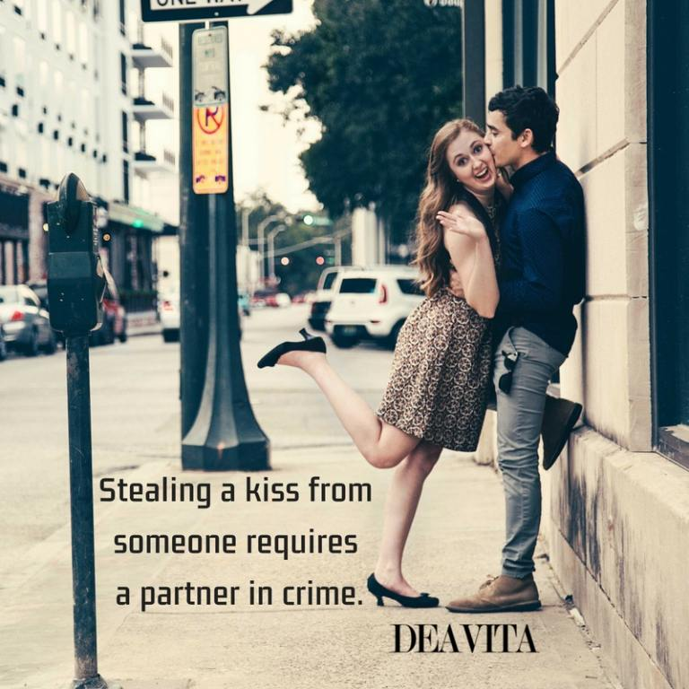 Stealing a kiss short love quotes and romantic cards