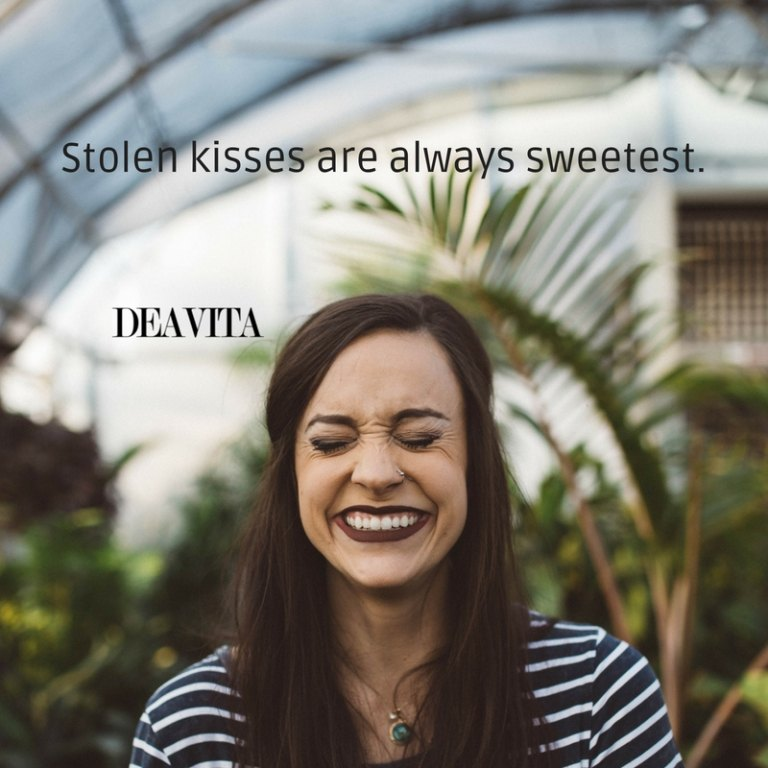 Stolen kisses quotes short romantic sayings with images