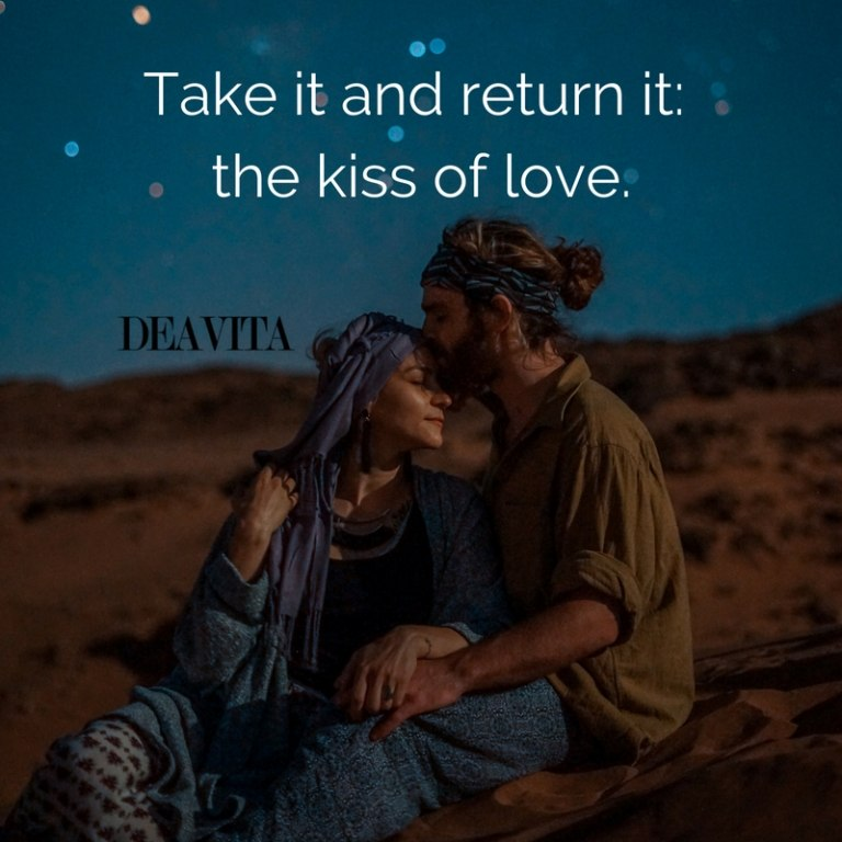 the kiss of love best romantic quotes and cards